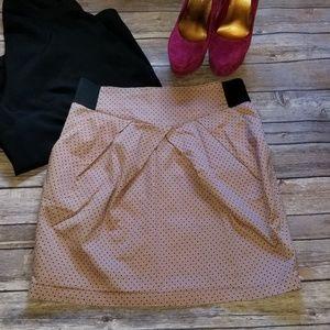 H&M Mauve Polka Dot Tulip Skirt Size 12 LNC